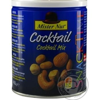 Коктель мікс фундук, кешью, мигдаль, арахіс Mister Nut ж/б 400г