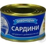 Сардина Аквамарин атлантическая натуральная с добавлением масла 240г железная банка Россия