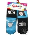 Шкарпетки дитячі Conte Kids веселі ніжки 17С-10СП, розмір 18, 337 бірюза