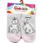 Шкарпетки дитячі Conte Kids веселі ніжки 17С-10СП, розмір 22, 338 світло-сірий
