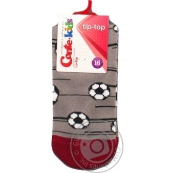 Шкарпетки дитячі CK TIP-TOP 5С-11СП, р.16, 396 сірий - купить, цены на Novus - фото 1