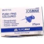Кнопки-цвяшки кольорові JOBMAX Buromax 25шт