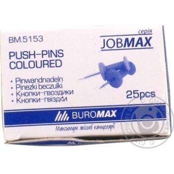 Кнопки-цвяшки кольорові JOBMAX Buromax 25шт - купить, цены на Novus - фото 1