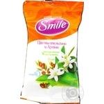 Салфетки влажные Smile Бурбонская роза/Цветы апельсина и аргана 15шт в ассортименте