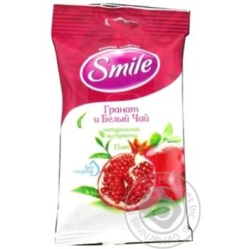 Салфетки влажные Smile Гранат и белый чай 15шт