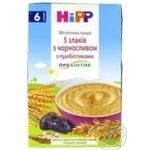 Каша детская ХиПП 5 злаков с черносливом и пробиотиками молочная с 6 месяцев 250г