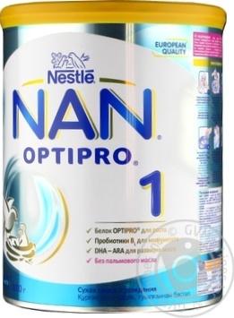Смесь молочная Нестле Нан 1 сухая для детей с рождения 800г