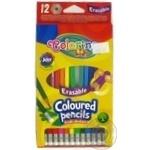 Олівці кольорові з гумкою12 кольорів COLORINO12
