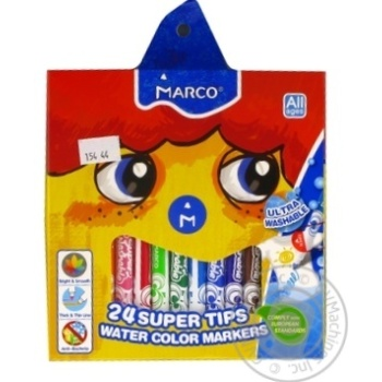 Markers Marco 24colours 24pcs - buy, prices for Novus - image 1