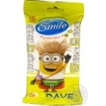 Серветки вологі Smile Minions банан 15шт