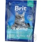 Сухий корм д\котів з чутливим травленням Brit Premium Cat Sensit