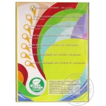 Кольоровий папір Green Orange А4 жовті 100 аркушів - купити, ціни на Метро - фото 1