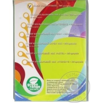 Кольоровий папір Green Orange А4 PAS зелена 100 аркушів - купити, ціни на Метро - фото 1