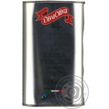 Масло Diva Oliva оливковое Экстра Вирджин первого холодного отжима 500мл