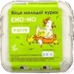 Яйце куряче ЕКО-КО С2, 9 шт/уп.