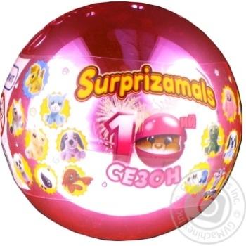 Іграшка-сюрприз м'яка Surprizamals в кулі - купити, ціни на Novus - фото 1