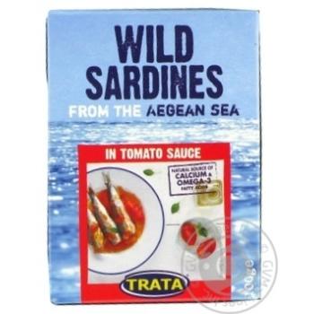 Сардина дикого вилову в томатному соусіTrata 100г