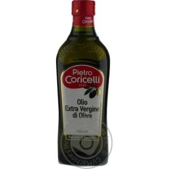 Олія оливкова нерафінована 1-го віджиму Pietro Coricelli c/б 750мл