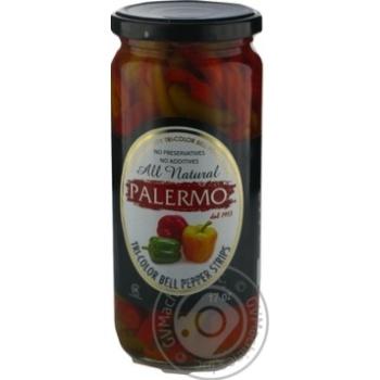 Перець солодкий Palermo нарізаний консервований пастеризований 500мл