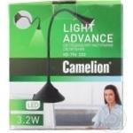Лампа настольная Camelion KD796 черный 12508 шт