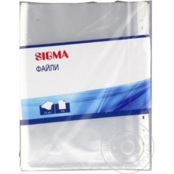 Файл Sigma А4 75мкм 25шт - купити, ціни на Метро - фото 3