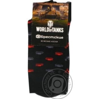 Шкарпетки чоловічі Брестські World Of Tanks Blitz 2131середньої довжинирозмір 27,137 чорний - купити, ціни на Novus - фото 1