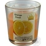 Свеча Pragnis в стакане апельсиновый фреш 79X83мм