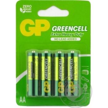 Батарейки GP Greencell 1.5V AA 4шт - купить, цены на Метро - фото 1