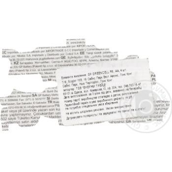 Батарейки GP Greencell 1.5V AA 4шт - купить, цены на Метро - фото 4