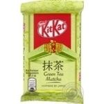 Kitkat Matcha with green tea in white chocolate candy bar 41.5g