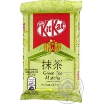 Скидка на Батончик Kit Kat в белом шоколаде с зеленым чаем матча 41,5г