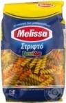 Вироби макаронні фузіллі трикольорові Melissa 500г