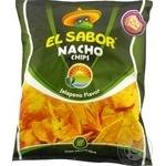 Чипсы El Sabor Nacho со вкусом перца халапеньо 225г