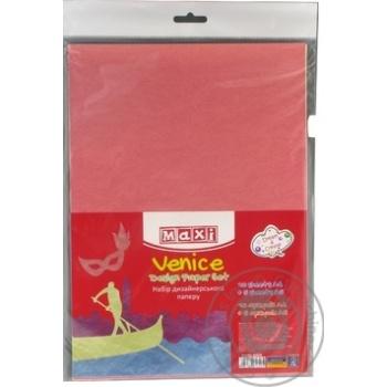 Набор дизайнерской бумаги Maxi Венеция А4 10 листов + 5 листов А5