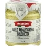 Брускета з артишоків та часнику консервована пастеризована Santolino 212мл