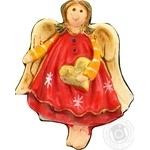 Прикраса Магніт янгол у червоному вбрані T625-48 ФОП Столяр