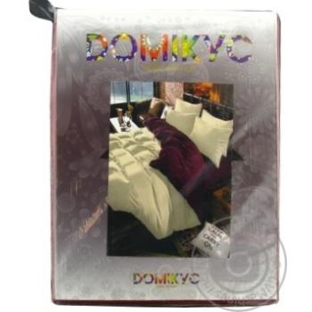 КПБ з мікрофібри Євро: Підковдра 200*220-1 шт, Простирадло 220*240-1 шт, Наволочка 50*70-2 шт Domikus - купити, ціни на Novus - фото 1