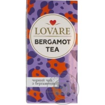 Чай Lovare байховый кенийский с бергамотом и ароматом мандарина 24*2г - купить, цены на Novus - фото 2
