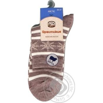 Шкарпетки жіночі 1404 Брестські р.23, 045 капучіно - купить, цены на Novus - фото 2