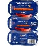 Анчоуси в соняшниковій олії Ancohoas у пластіковій упаковці  120г