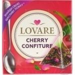 Чай смесь черного и зеленого Lovare Cherry Confiture в пирамидках 15*2г