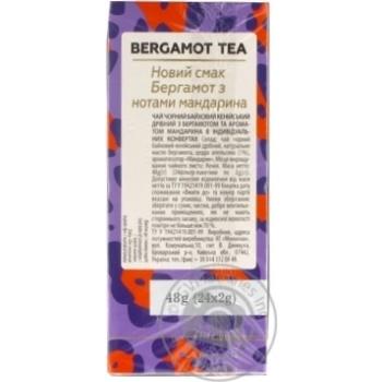Чай Lovare байховый кенийский с бергамотом и ароматом мандарина 24*2г - купить, цены на Novus - фото 4