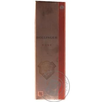 Шампанське Bollinger Brut рожеве 12% 0,75л