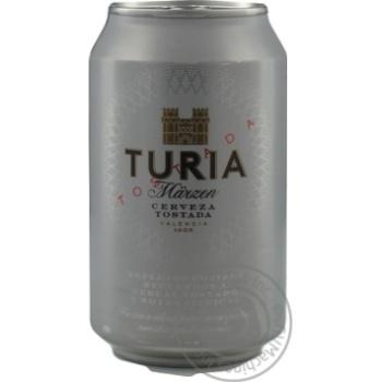 Beer Turia semi-dark 5.4% 330ml can Spain