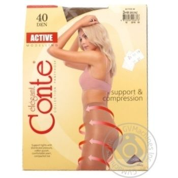 Conte Active 40 Den Bronz Tights for Women Size 3 - buy, prices for CityMarket - photo 2