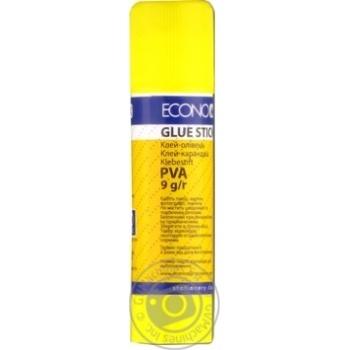 Клей-карандаш EconoMix PVA, 9г - купить, цены на Novus - фото 1