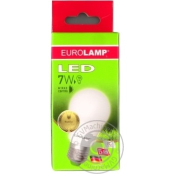 Eurolamp LED Lamp E27 7W 3000K - buy, prices for Novus - image 1