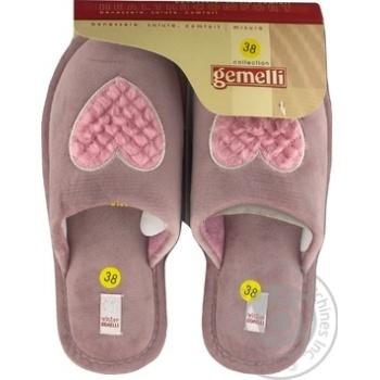 Обувь домашняя Gemelli женская 36-40 размер цвет в ассортименте