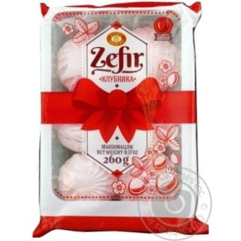 Зефір Полуниця Бісквіт-Шоколад 260гр