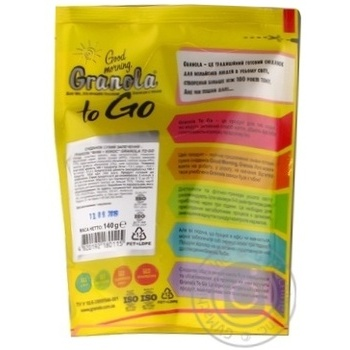 Good morning To Go coconut-date fruit granola 140g - buy, prices for Novus - image 2